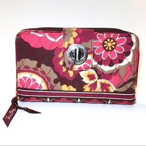 Vera Bradley Turnlock Wallet Carnaby Berry Color